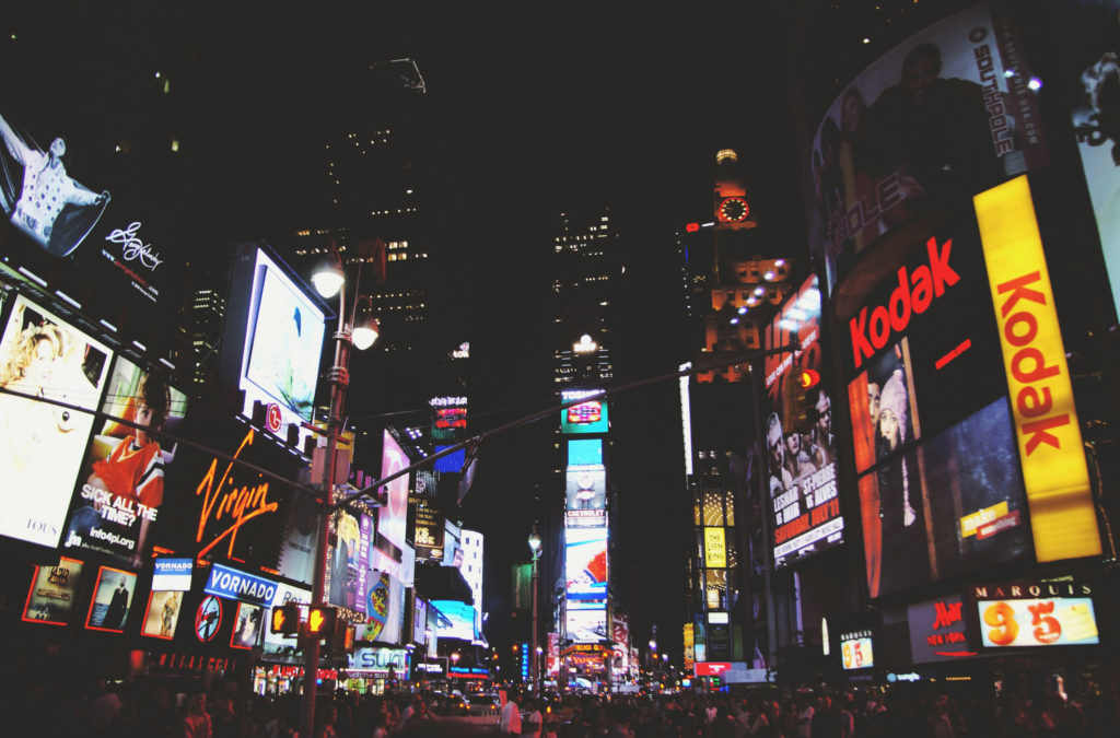 Was ist Digital Signage? Beispielbild: Time Square New York City